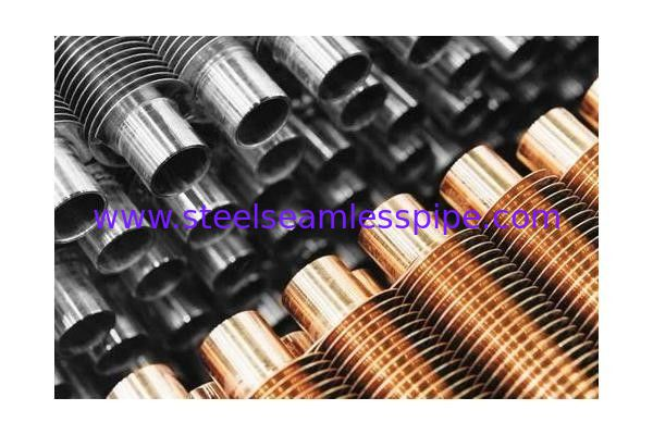 B338 Gr. 2 SMLS Titanium Heat Exchanger Fin Tube 1.245mmWT Spiral Extruded Finned Tube
