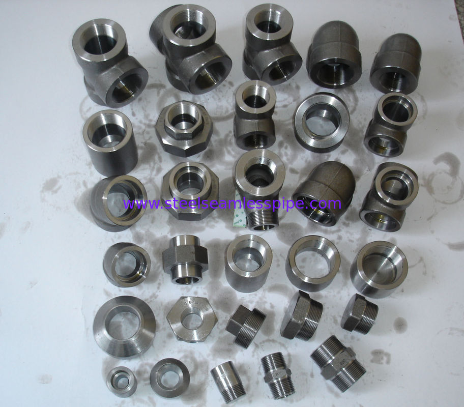 "Stainless Steel Forged Fittings Nickel Alloy Carbon Steel forged fitting NPT 1"" 3000# A182 / A105 B16.11"