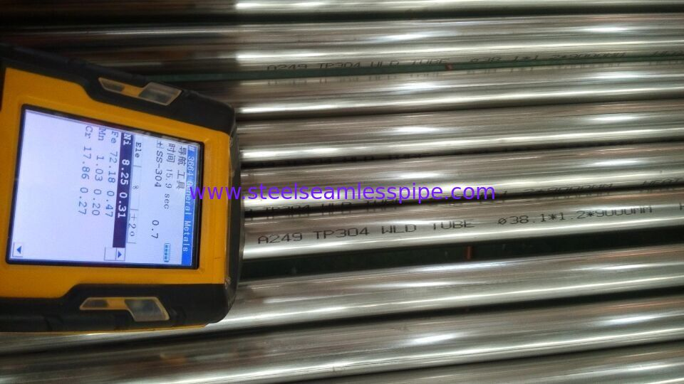 ASTM A249 / ASME SA249 TP304 TP304L TP316L Stainless Steel Welded Tube BA 38.1*1.2/1.5MM