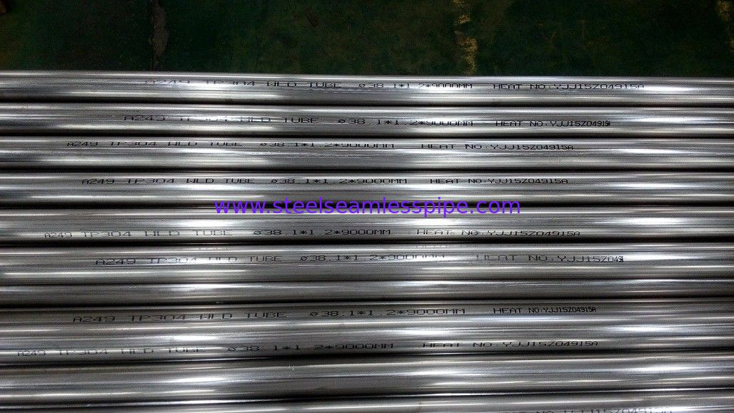 ASTM A249 / A249M TP304L TP316L TP304 Stainless Steel Heat Exchanger tube Bright Annealed Welded Tube ASME SA213