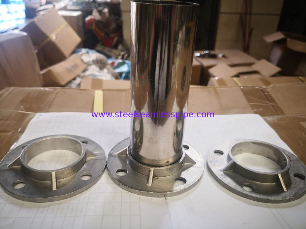High Precision Stainless Steel Handrail Fittings Surface Bright Satin