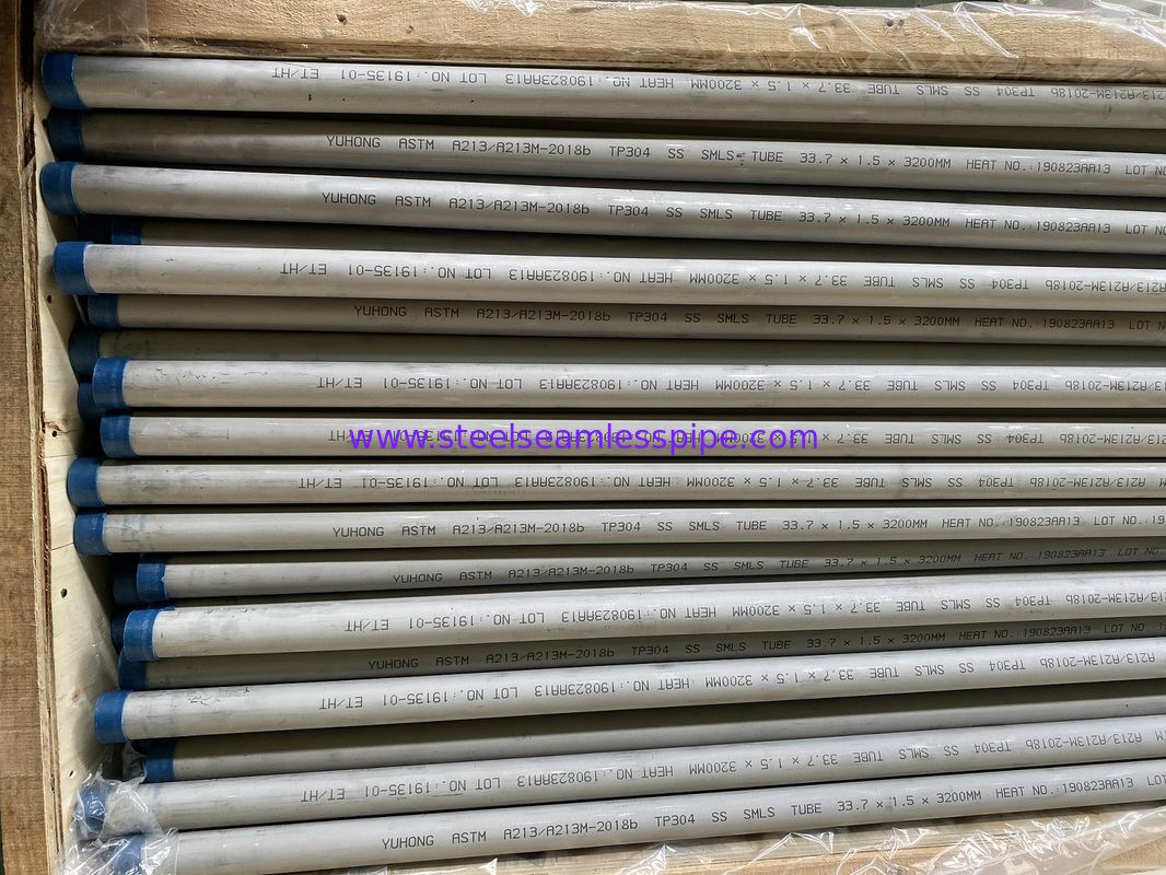 SA213 / SA213-2018 Stainless Steel Seamless Tube 33.7*1.5mm TP304 TP316L